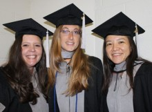 Dr. Farina with new graduates