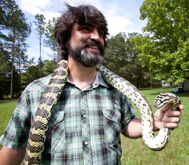 Dr. Jim Wellehan and snake