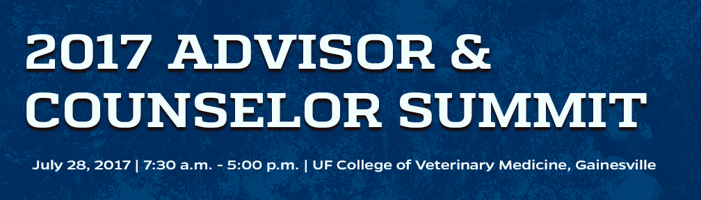2017 ufcvm advisor counselor summit college of veterinary