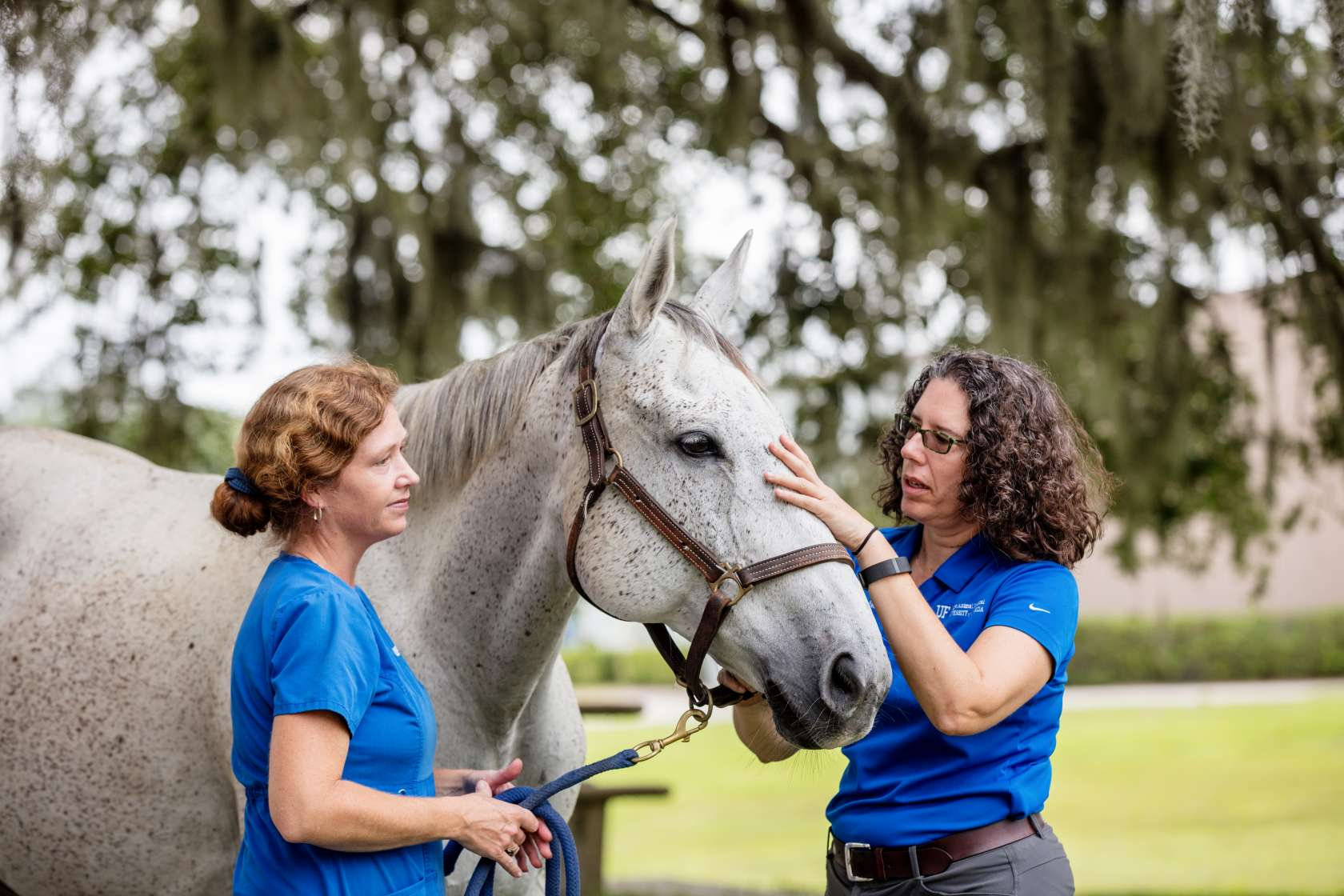 Dr. Chris Sanchez and horse with Heather.